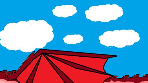 flying through the sky