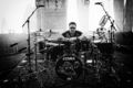 gustav with his drums <3