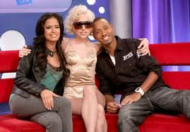 106 & Park wallpaper probably with a drawing room, a couch, and a well dressed person entitled lady gaga on 106&park