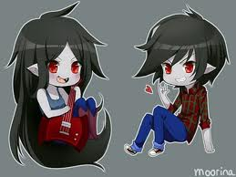 adventure time anime wallpaper called marceline and marshall lee