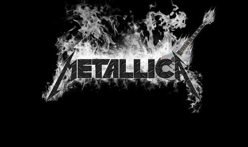 Metallica wallpaper probably with a street and a fire titled metallica