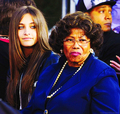 paris and grandma Katherine - michael-jackson photo