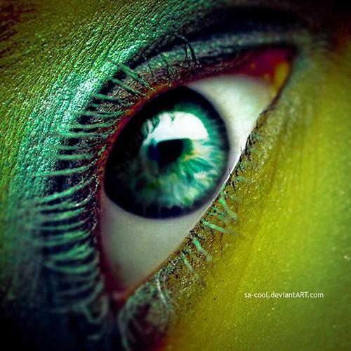 randome colourful eyes
