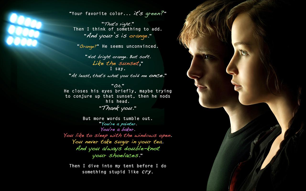 Peeta Hunger Games Katniss Quote Mockingjay