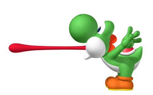 Yoshi images Yoshi's tongue wallpaper and background photos