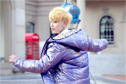 B.A.P karatasi la kupamba ukuta probably containing an outerwear, a well dressed person, and a hip boot called zelo :)
