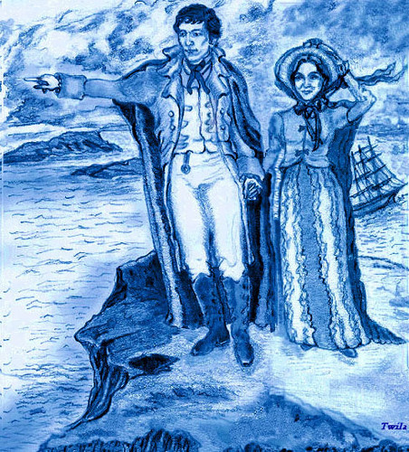 """Barnabas and Josette Atop Widows Hill"""