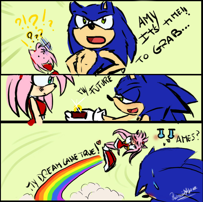 Sonic and Amy :Grab My Meme: