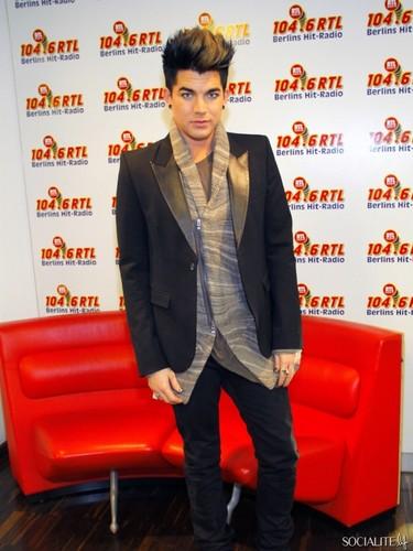 Adam Lambert Pays A German Radio Station A Visit