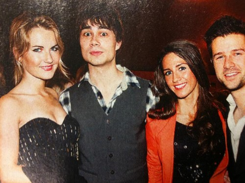 Alexander Rybak wallpaper possibly containing a portrait entitled Alex and Didrik with girlfriends