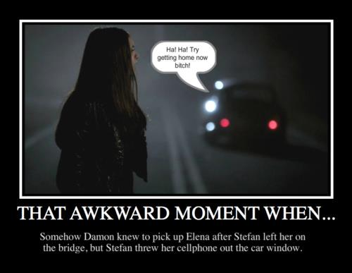 Awkward TVD moments. - chair-family Fan Art