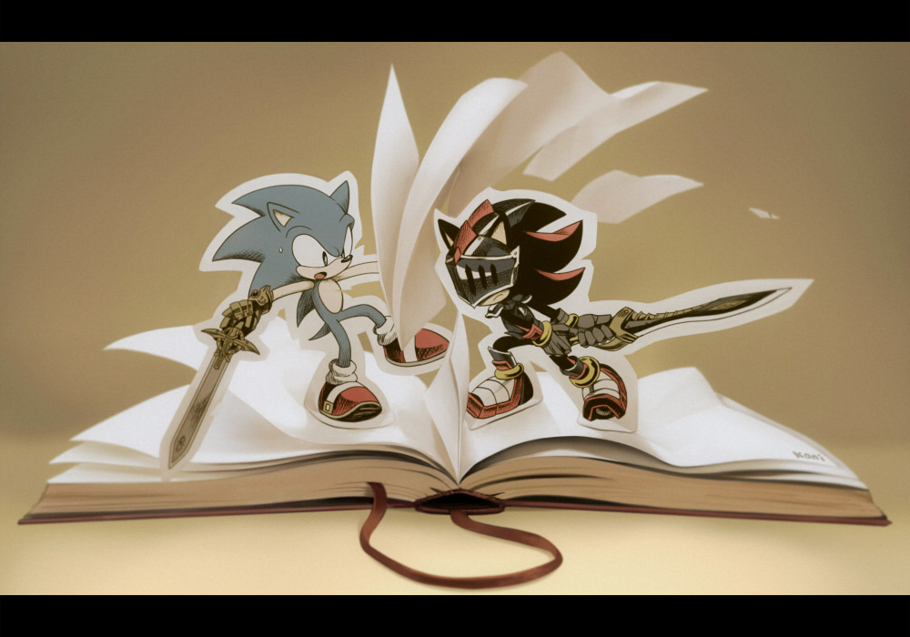 Sonic The Hedgehog Images Black Night Book HD Wallpaper