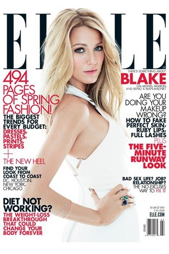 Blake on the cover of the March 2012 of ELLE