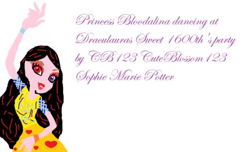 Bloodalina dancing at Draculauras Sweet 1600th Party!