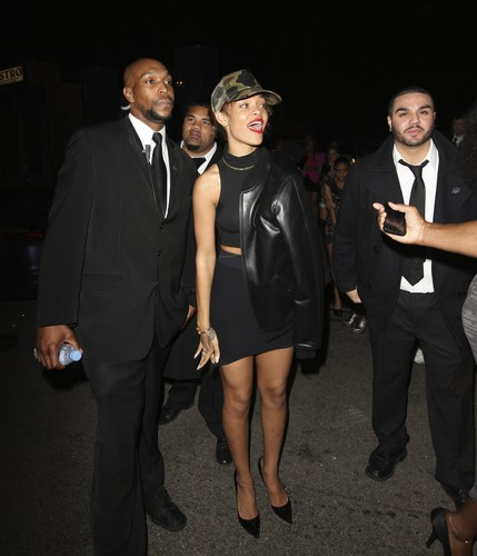 Braless Candids At Greystone Nightclub In LA [30 January 2012]