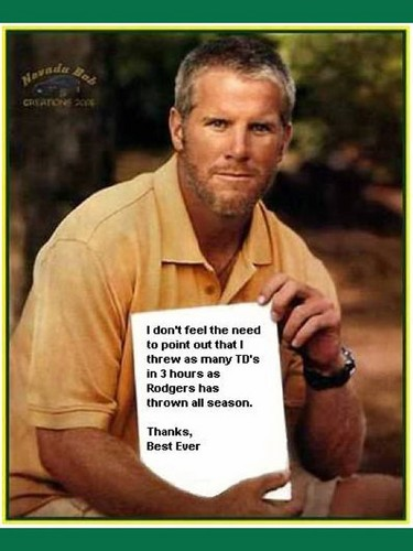 Brett Favre wallpaper probably with a newspaper, a sign, and a portrait entitled Brett Favre