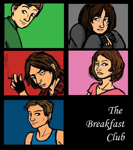The Breakfast Club Appreciation hình nền possibly with anime entitled Cartoon breakfast club