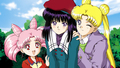 Chibiusa, Usagi and Hotaru