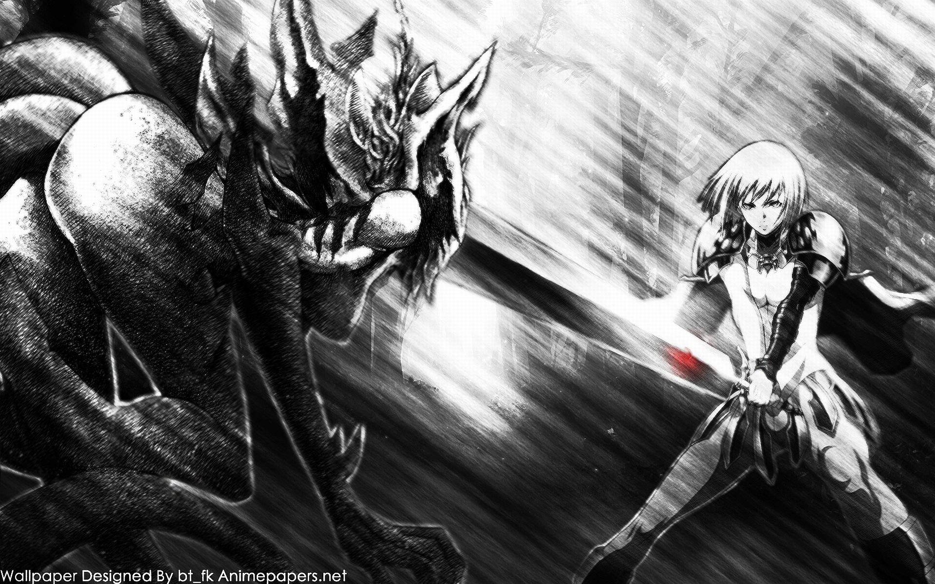 clare vs luciela claymore anime and mang wallpaper