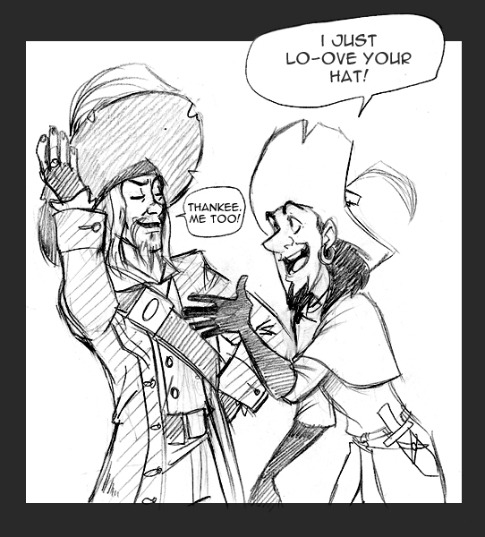 Clopin,Barbossa: Shared upendo
