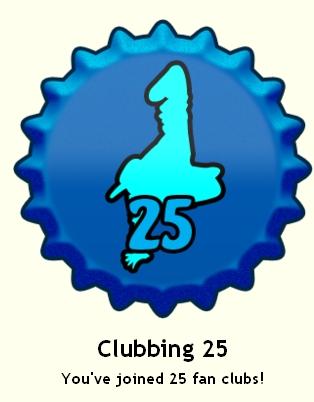 Clubbing 25 cap, herufi kubwa