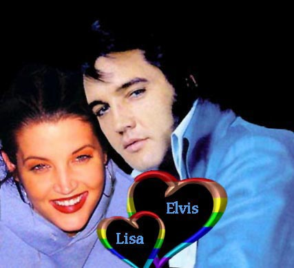 Elvis Aaron Presley and Lisa Marie Presley wallpaper entitled Daddy & his baby girl