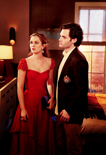 Dan and Blair wallpaper probably with a bridesmaid, a dinner dress, and a gown titled Dan and Blair 5x15