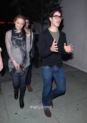 Darren Dianna Agron and Joey Richter spotted leaving El Rey Theater in Hollywood 02/02/12