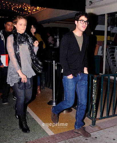 Darren & Dianna Agron spotted leaving El Rey Theater in Hollywood last night