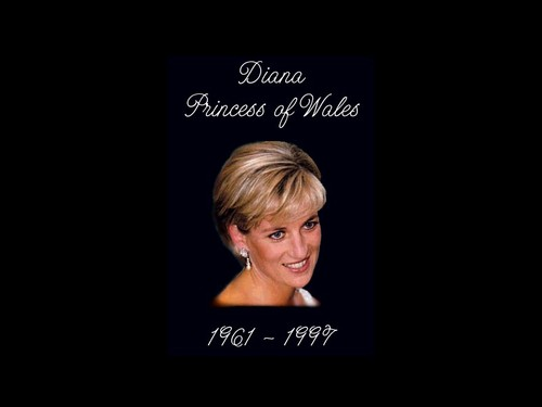 Prinzessin Diana Hintergrund possibly with a sign and a portrait titled Diana, Princess of Wales