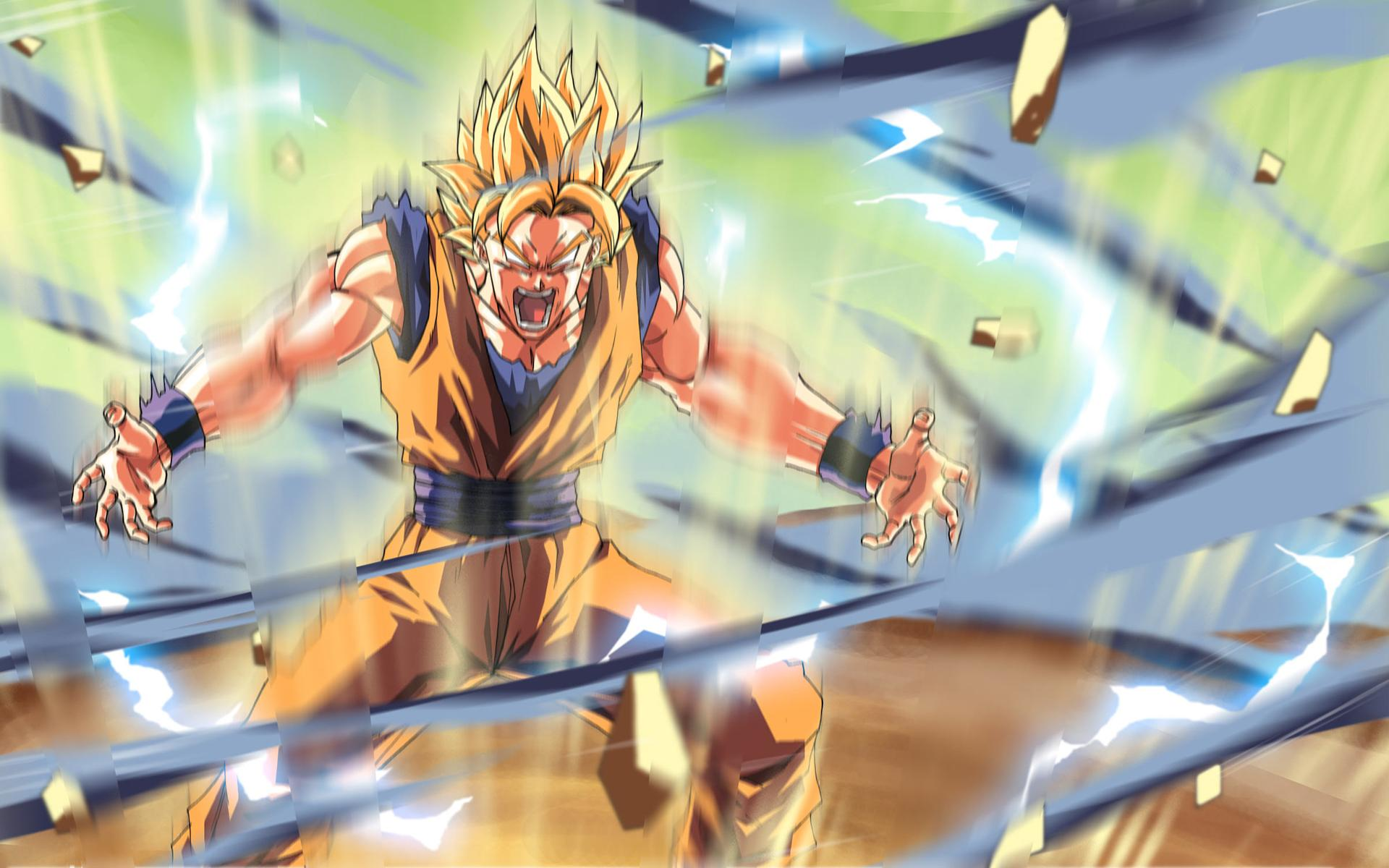 Dbz images goku ss 2 hd wallpaper and background photos for Dragon ball z bedroom wallpaper