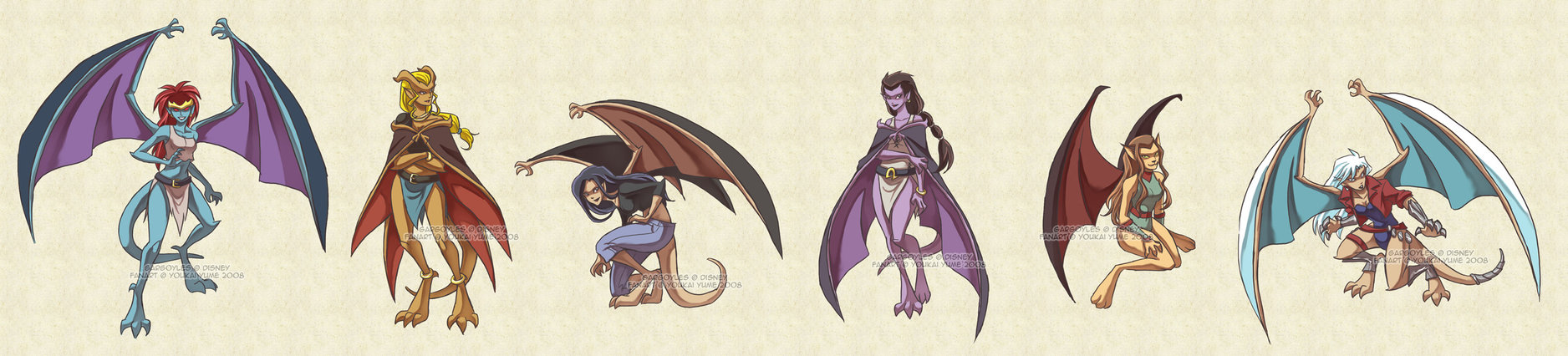 Gargoyles Garg-girls