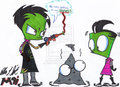 Getting on my Nerves - invader-zim fan art
