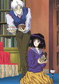 Hotaru and Professor Tomoe