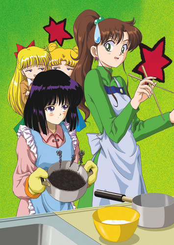 Sailor Saturn Hintergrund containing Anime entitled Hotaru makes lunch