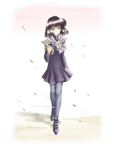 Sailor Saturn Обои with a well dressed person and an outerwear called Hotaru