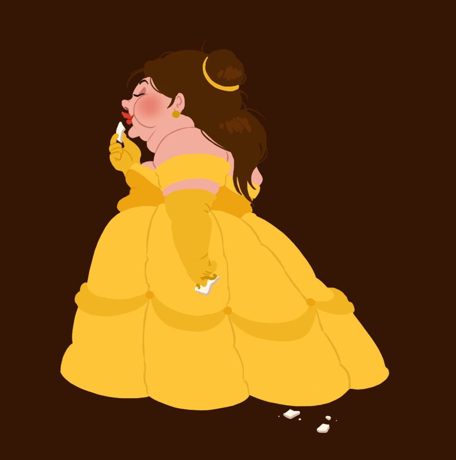 Which modern disney princess are you quiz - Hungry Princess Belle Belle Fan Art 28702300 Fanpop