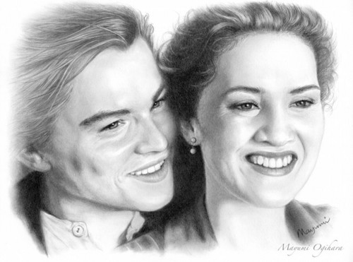 Jack and Rose वॉलपेपर with a portrait called Jack and Rose <3