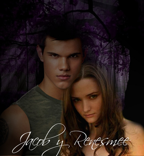 Twilight Series wallpaper containing a portrait called Jacob y Renesmee