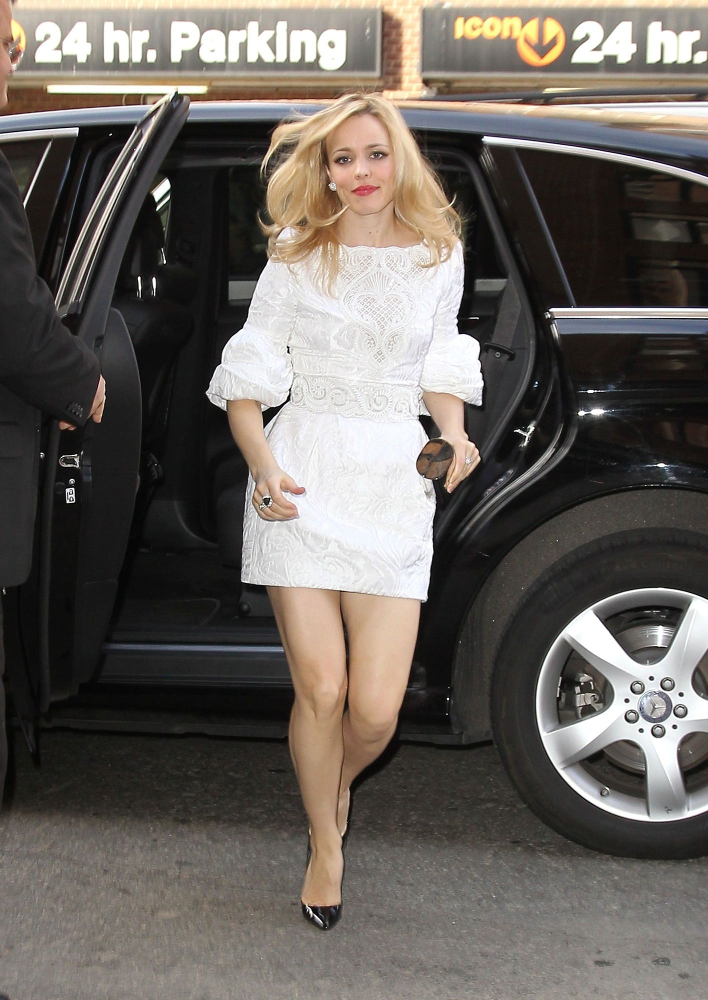 """January 31st: Arriving at her hotel after """"Live with Kelly!"""" in New York"""