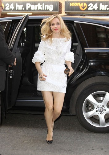 "January 31st: Arriving at her hotel after ""Live with Kelly!"" in New York"