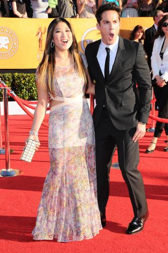 Jenna and boyfriend at SAG awards