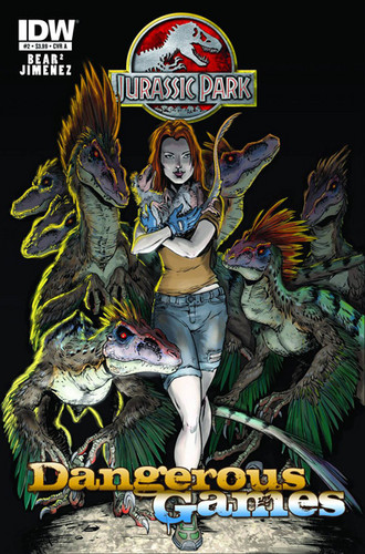 Jurassic Park kertas dinding with Anime titled Jurassic Park Dangerous Games comic