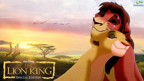 Kovu and Kiara HD wallpaper