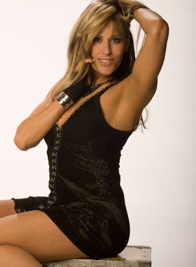 Lilian Garcia wallpaper with a leotard, a bustier, and tights called Lilian Garcia Photoshoot Flashback