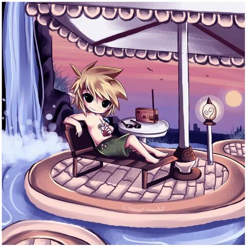 Link on Link's Island