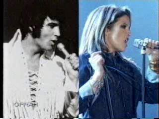 Elvis Aaron Presley et Lisa Marie Presley fond d'écran probably containing a portrait entitled Lisa & Daddy