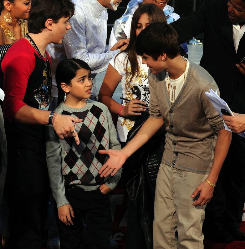 Justin Bieber Michael Jackson's son Blanket Jackson rejected a ...