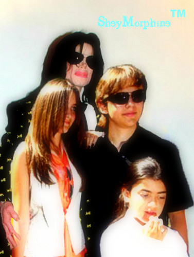 Michael and his children.