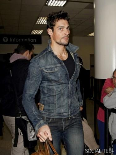 Model David Gandy Arrives At Los Angeles International Airport